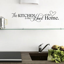 Home Wall Decor Black Kitchen Quotes Removable Mural Art Wall Sticker Diy Wall Decal (Size: 57cm by 14cm, Color: Black)