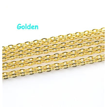 5M/100M Gold Silver plated Bronze Copper Open Link Jewelry Cable Chains for DIY Jewelry Making Necklaces Bracelets Decor