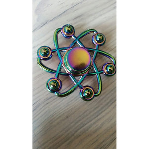 New Fashion Rainbow Fidget Metal Spinner Colorful Decompression Aluminum Alloy Spinning Toy Christmas gifts