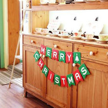 1set News Merry Christmas Garland Banner Set Christmas Party Decoration Party Photo New Year Party Favor Supplies