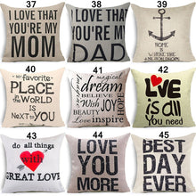 18x18IN Romantic Quotes Decorative Pillow Cover Sofa Cushion Cover Pillowcase Home Decor