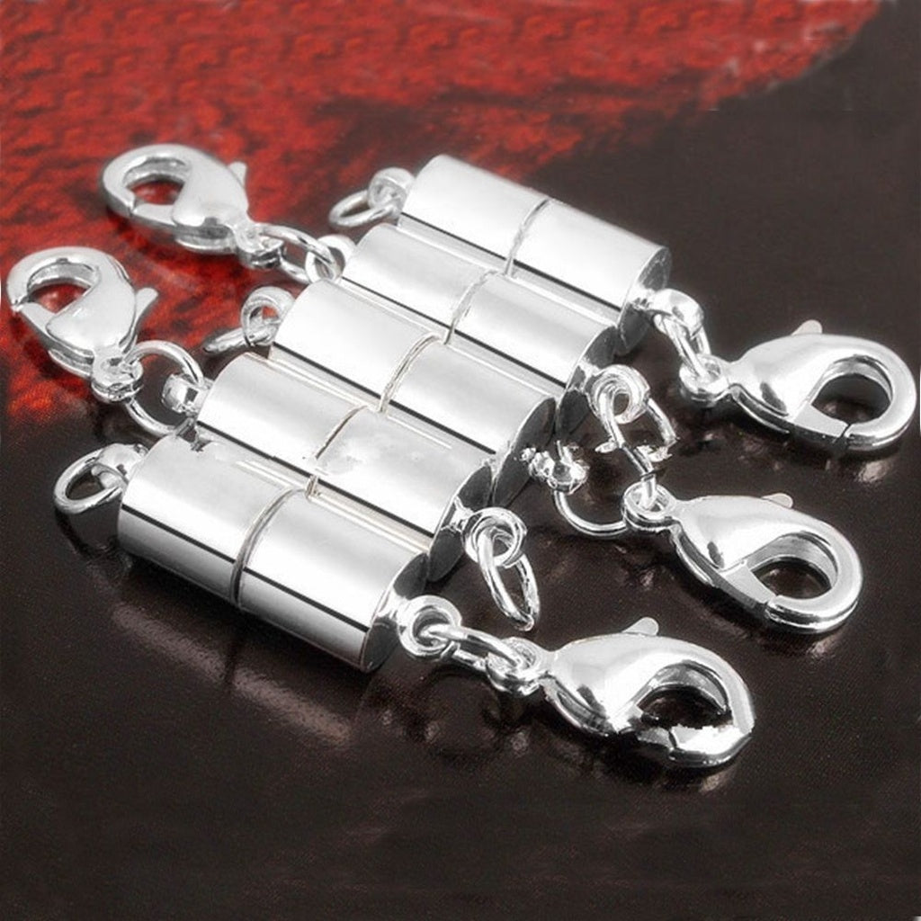 Tube Making Jewellery 5Pcs Clasp Findings Round Plated Strong DIY Necklace Set Magnetic Clasp Magnetic Necklace Clasps Magnetic