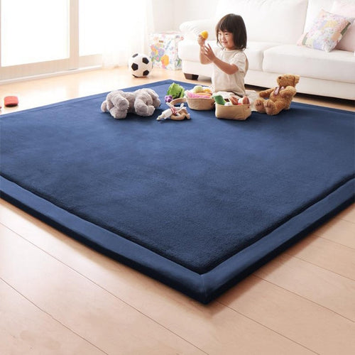 Coral Fleece Mat Sponge Carpet Children Baby Crawling Pad Tatami Bedroom Living Room Rectangle Carpet