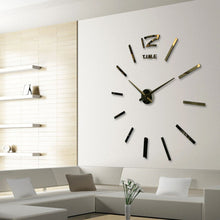 New Modern DIY Large Wall Clock 3D Mirror Surface Sticker Home Decor Art Design