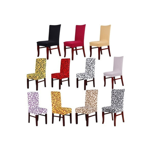 Nice Dining Room Decoration Chair Covers Banquet Household Stretch Printed Chair Covers