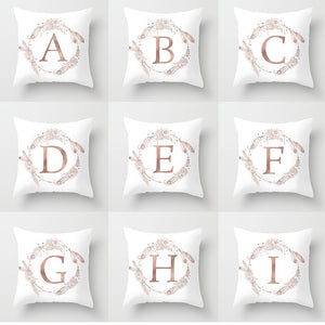 Luxury Letters (double-sided Printing) Pillowcases Bedroom Sofa Car Pillow Covers