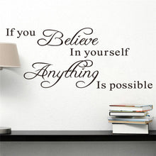 If You Believe in Yourself Anything Is Possible Inspirational Quotes Wall Stickers Home Decoration Diy Study Room Mural Art Viny