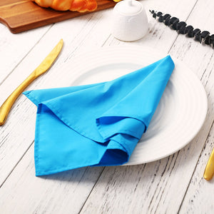 12PCS Napkins Dinner Table Cloth Wedding Party Hotel Restaurant Favors Banquet Napkins Table Linens Top Decor Cloth Fabric