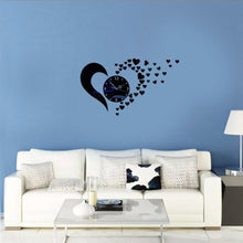 DIY Large Wall Clock with Special Pattern 3D Mirror Surface Art Sticker