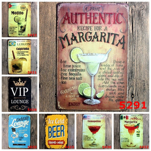 Chiting 1 Psc Cocktail Beer Metal Poster Wall Decor Tin Sign Wall Hanging Bar Cafe Home Decor