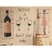 Hot Sale Wine A Bit Vinyl Wall Art Wall Quote Sticker Dinning Kitchen Removable Decor