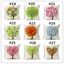 18 Inch Colorful Girls & Life Tree Pattern Throw Pillow Case Home Decor Sofa Cushion Cover Decorative Pillow Cover