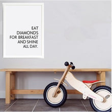 Nordic Minimalist Shine All Day  Picture Wall Poster Quotes Painting Kids Room Home Decor