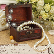 New Vintage Jewelry Pearl Necklace Bracelet Storage Organizer Wooden Case Gift Box