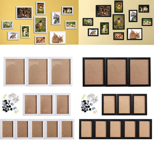 11pcs Frame DIY Combination Photo Wall Home Decoration Waterproof Frame Staircase Living Room Bedroom Wall-hanging Creative Comb