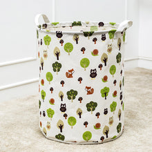 Waterproof Canvas Laundry Clothes Basket Storage Basket Folding Storage Box  lok666