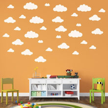 New Fashion 31pcs / set DIY Large Clouds 4-10 Inch Wall Sticker Removable Vinyl Wall Decals Children's Room Home Decoration Art