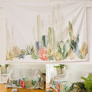 Cactus Landscape Wall Tapestry Bedroom Living Room Wall Hanging Decor