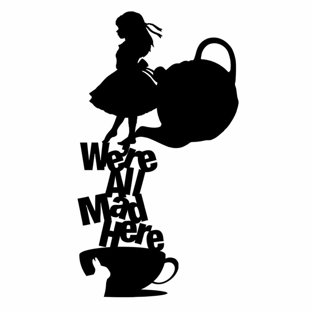 Alice In Wonderland Wall Decal Quote