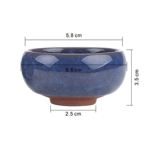 12pcs Ceramic Sucuulent Plant Pot Home Office Decor