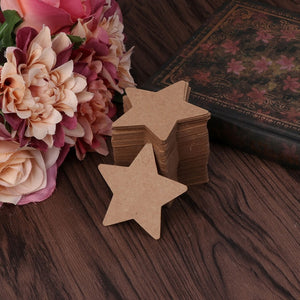 100Pcs Blank Kraft Paper Card Hang Tag Label Christmas Wedding Crafts