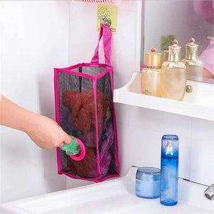 Kitchen Hanging Type Breathable Mesh Grid Garbage Bags Storage Bag Convenient Extraction Pouch Bag