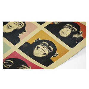 Retro Poster Gorilla Chimps Coffee & Bar Decor Retro Kraft Posters Movie Poster Wall Stickers