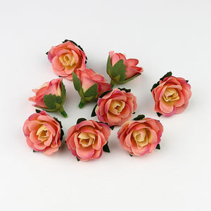 10pc/lot 3cm Mini Rose Flower Head Artificial Flowers for Wedding Decoration  Fake Flowers