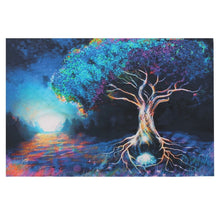 Psychedelic Trippy Tree Pattern Silk Fabric Posters Visual Mind Manifesting Art