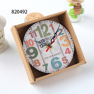12CM !!! Home Garden Room Antique Decor Wall Clocks Decoration Clock Shabby Chic