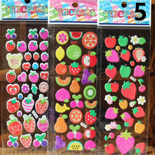 10pcs/Lot Bubble Stickers 3D Cartoon KIds ClassicToys Sticker School Reward gift RON