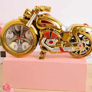 Student's Gift Birthday Gift Motorcycle Alarm Clock Home Decorator Crafts (Clock Part Pattern Will Random)