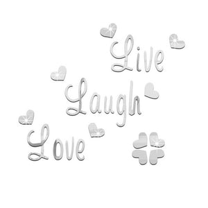 Live Laugh Love Quote Removable Wall Art Stickers Mirror Decal DIY Room Decor