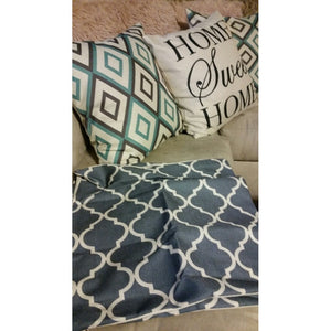 Vintage Grey Geometric Pattern Decorative Pillow Cover Cushion Cover Pillowcase Home Decor