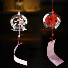 Creative Japanese Handmade Glass Painting and Wind Chimes Door Decoration Gift for Girls