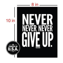 "Motivational Poster - 8"" x 10"" inches - Inspirational Quotes - Quote Wall Decals - Awesome Gym Workout Posters - Cool Typography"