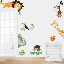 2017 Jungle Animal Kids Baby Nursery Child Home Decor Mural Wall Sticker Decal