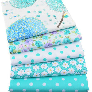 5pcs/lot,Twill Cotton Fabric Patchwork Foral Tissue Cloth Of Handmade DIY Quilting Sewing Baby&Children Sheets Dress Material