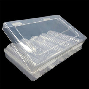 100PCS 30mm Coin Cases Capsules Holder Applied Clear Plastic Round Storage Box Cases Plastic Box