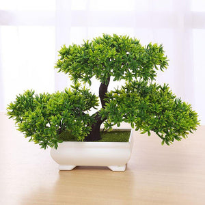 Mini Plastic Resin Artificial Plant Bonsai Tree Bonsai Decoration for Office/Home
