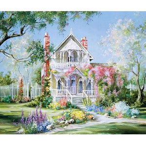 Villa manor picture 5D diy diamond painting cross stitch FULL 3d diamond embroidery mosaic pattern home decor landscape gifts
