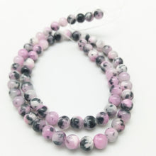 Natural Stone Pink Zebra Persian Jade Round Loose Beads Pick Size 6/8/10/12MM For Jewelry Making DIY