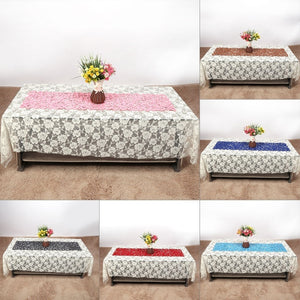 102 X 29cm Felt Openwork Table Runner Cloth Home Wedding Decoration