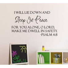 Sleep In Peace Bible Verse Decor vinyl wall decal quote sticker Inspiration