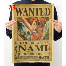 One Piece Anime Posters Vintage Kraft Paper Anime Poster Interior Bars Coffee Shops Decorative Paintings Wall Stickers Wall Deca