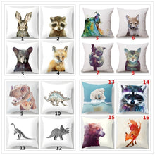 Color: Linen Color, NO White 18 Inches Decoration Pillow Simple Style Animal Linen Blend Throw Pillow Case Car Sofa Cushion Cov