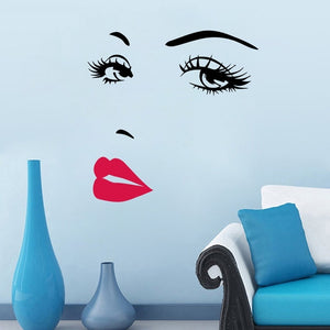 Sexy Lips Eyes Vinyl Wall Stickers Art Mural Home Decor Decal Wallpaper Home Decoration