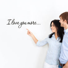 I Love You More Wall Quote Sticker Decals Removable Mural Decor Vinyl