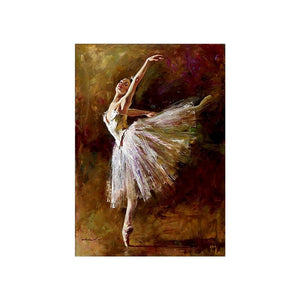 30*40cm Dancer Diamond Painting 5D Mosaic DIY Diamond Painting Cross Stitch Embroidery for Home Decoration Craft