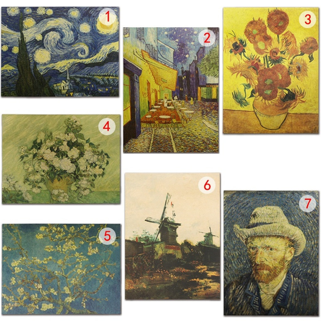 Van Gogh Oil Painting Series Posters Kraft Paper Wallpaper/Wall Home Decorative 52×36cm/20''×14''